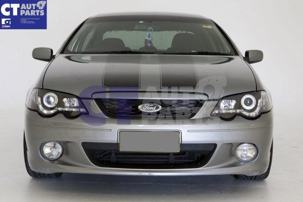 Black DRL LED Head Lights for 02-08 Ford Falcon BA BF XR6 FPV XR8 Sedan Ute -12144