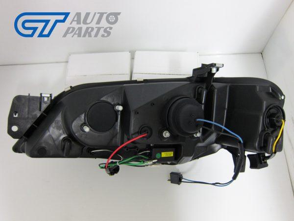 Black DRL LED Head Lights for 02-08 Ford Falcon BA BF XR6 FPV XR8 Sedan Ute -12140