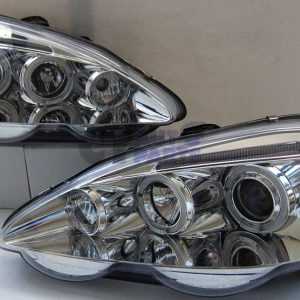 Clear LED Angel-Eyes Projector Head Lights for HONDA INTEGRA DC5 01-03 JDM TYPE R-0