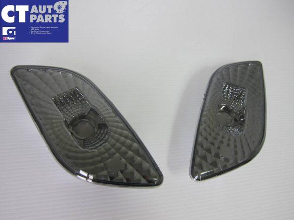 Black Fender Side Reflector Indicator Lights for 00-02 Subaru Impreza WRX STi-0