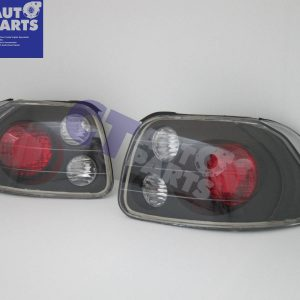JDM Black Altezza Tail lights for 92-97 Honda CRX Del Sol VtiR-0
