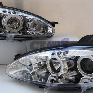 Clear LED Angel Eyes Projector Head Lights for 01-05 MAZDA MX5 NB MX 5-0