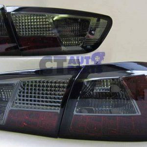 Smoked LED Tail Lights for 07-19 Mitsubishi Lancer CJ EVO X Sedan-0