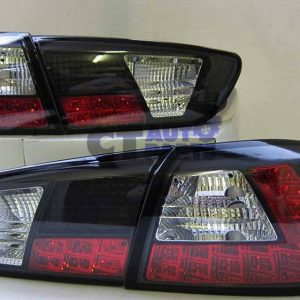 JDM Black LED Tail Lights for 2007-2019 Mitsubishi Lancer CJ EVO X Sedan-0