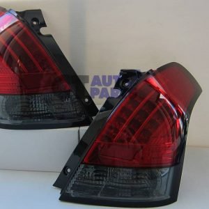 Red Smoked LED Tail light for 04-10 Suzuki Swift Sport-0