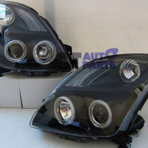JDM Black LED Projector ANGLE EYE Headlight for 05-10 SUZUKI SWIFT SPORTS-0