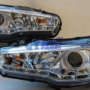 CCFL Angel Eyes DRL LED Head Lights Headlight 07-15 Mitsubishi Lancer EVO X CJ -0