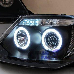 Black CCFL Angel-Eyes Projector Head Lights for 05-10 Toyota Hilux SR5 Ute -0