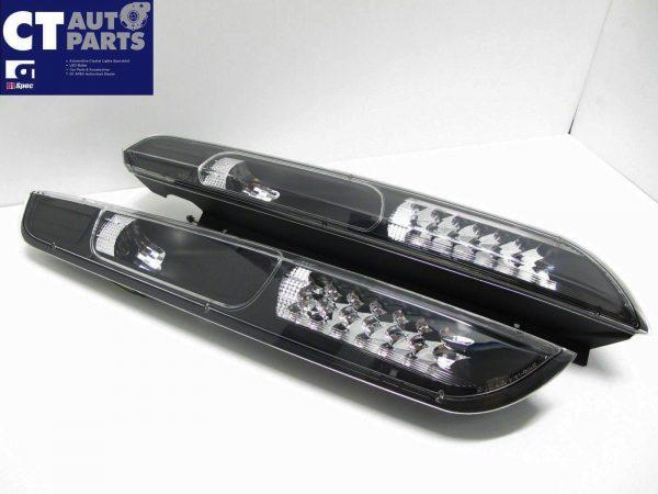 Black LED Tail Lights for 04-07 Ford Focus XR5 ZETEC-3982