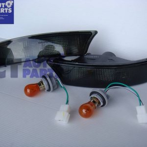 Black Bumper Lights for 92-97 SUBARU IMPREZA WRX STI GC8 -0