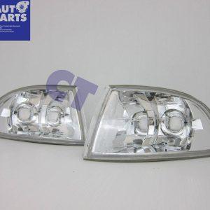 Crystal Clear Corner Indicator Lights for 92-95 HONDA CIVIC EG 4D Sedan only-0