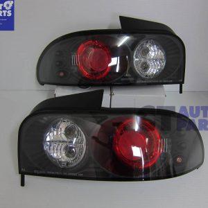 JDM Black Altezza Tail Lights 92-00 SUBARU Impreza Sedan GC8 WRX STi Turbo RX-0