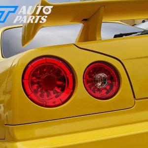 Clear Red LED Tail light for 98-02 Nissan Skyline R34 GTR GTT RB-0
