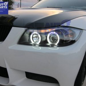 Black CCFL Angle Eye Projector Headlight for 05-08 BMW E90 Sedan 320i 323i 325i 335I 330i M3-0