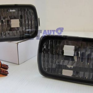 Black Front Bumper lights Front Signal Lights for 99-02 NISSAN SKYLINE R34 GTR GTT-0