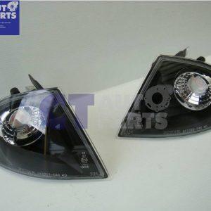 BMW 3 SERIES E46 1998-2001 BLACK Front Corner Indicator Lights 4 DOOR SEDAN-0