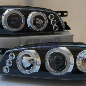 Black Angle Eye LED Projector Headlights for 92-00 SUBARU IMPREZA WRX GC-0