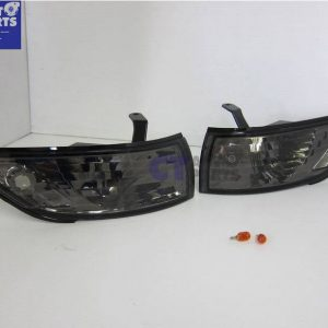 Black Front Corner Indicator Signal Lights for 88-93 SILVIA S13 SR20 SR20DET CA18DET-0