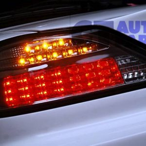 SMOKED Dynamic LED Tail lights 99-02 Nissan Silvia 200SX S15 Spec R YASHIO STYLE-0