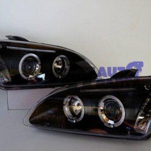 Black Projector Angel Eye Headlights for 04-08 Ford FOCUS MK2 XR5 ZETEC-0