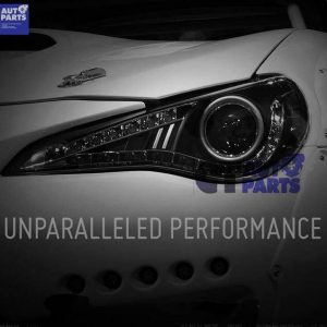 LED DRL CCFL Halo Projector Black Headlights for Toyota 86 GT -0