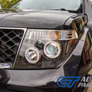 LED ANGEL-EYES Black HeadLight for PathFinder R51 Nissan Navara D40 CLR-0