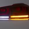 MK6 Golf R Style Clear Red LED Tail lights for VW Golf VI VW VI 6 GTD GTI Dynamic Signal -8924