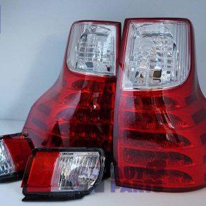 Clear Red LED Tail Lights TOYOTA LAND-CRUISER PRADO 09-13 / FREE FOG LIGHTS-0