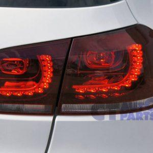 MK6 Golf R Style Clear Red LED Tail lights for VW Golf VI VW VI 6 GTD GTI Dynamic Signal -0