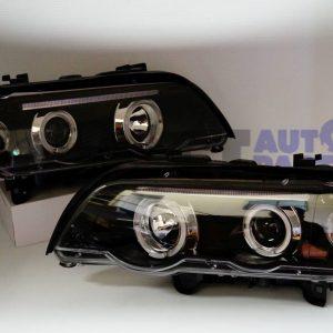 00-03 BMW X5 E53 LED Angel-Eyes Projector HeadLight-0