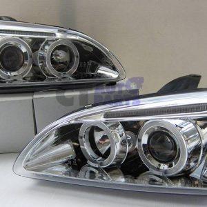 Clear Projector Angel Eye Headlight for 04-08 Ford FOCUS MK2 XR5 ZETE-0