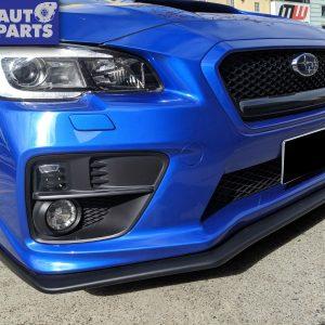 Matte Black STI Front Bumper Lip Spoiler for 14-19 Subaru WRX STI V1 -0