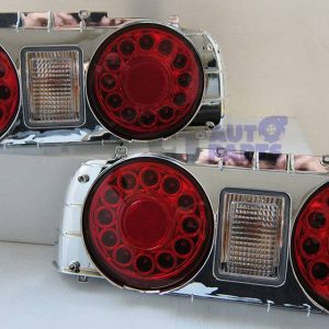 Clear Red LED Tail Lights Nissan Skyline R32 GTST GTR RB25DET RB26DETT-0
