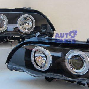 CCFL Angel-Eyes Projector Head Lights BMW X5 E53 00-03 Pre LCI Headlight-0