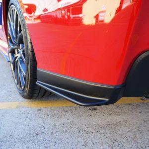 STI Style Rear Bumper Lip Rear Pod for 14-19 SUBARU WRX STI V1 Matte Black -0