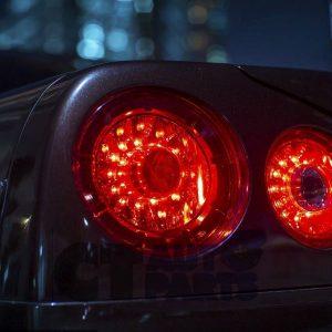 Smoke Red LED Tail Lights Nissan Skyline R34 GTS-T GT-R GT-T RB25DET RB26DETT-0