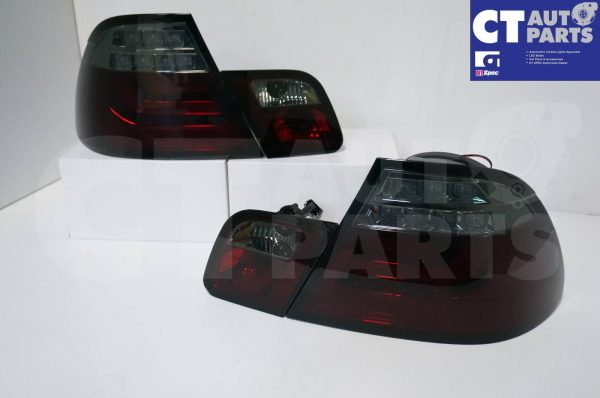 Smoked RED LED Light Bar Tail Lights BMW E46 03-05 COUPE 2DOOR 330CI 328CI 320CI 318CI-0