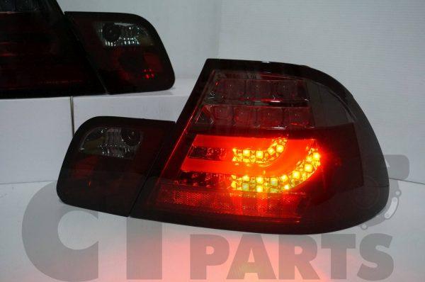 Smoked RED LED Light Bar Tail Lights BMW E46 03-05 COUPE 2DOOR 330CI 328CI 320CI 318CI-3683