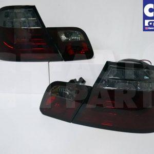 SMOKED RED LED Light Bar Tail Lights BMW E46 98-02 COUPE 2DOOR 330CI 328CI 320CI 318CI-0