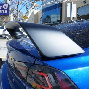 EVO X Style ABS 3PCs TRUNK SPOILER 07-18 Mitsubishi CJ LANCER (MATTE black Painted)-0