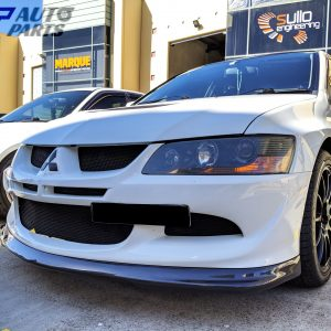 DO LUCK Style Carbon Fiber Front Lip for MITSUBISHI LANCER EVO 8 EVOLUTION MR 4G63 -0