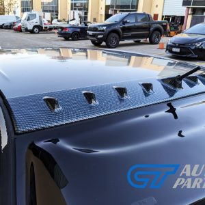 Lancer Evo 7 8 9 ABS Carbon Style VORTEX GENERATOR Roof fin spoiler-0