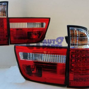 BMW X5 E53 Clear Red LED Tail Lights 99-02 Taillight-0