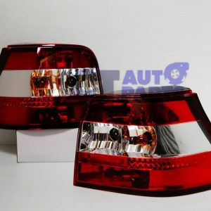 VolksWagen VW 98-04 GOLF IV 4 GTI ABT R32 Clear Red Tail Lights-0