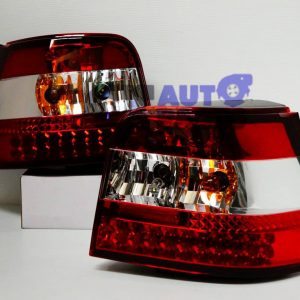 Clear Red LED TailLight Tail Lights VolksWagen VW 98-04 GOLF IV 4 GTI ABT R32-0