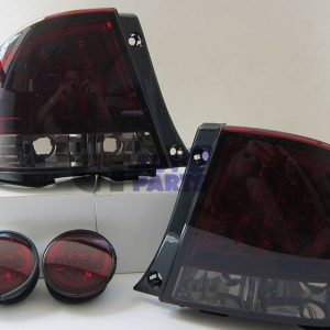 Smoked Red LED Tail Lights & LED Trunk Lights for LEXUS IS200 IS300 Toyota Altezza-0