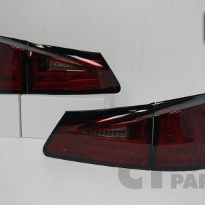 SMOKED RED LED Light Bar Tail Lights for Lexus IS250 IS350 ISF Taillight 05-08-0