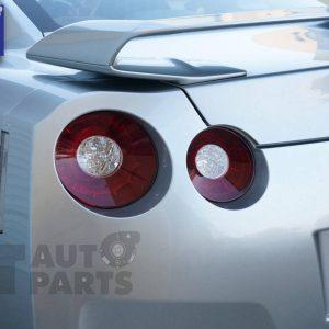 JDM Clear Red 3D LED Stripe Bar Tail Lights for Nissan Skyline GTR R35 VQ38-0