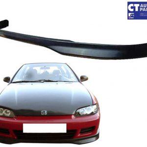 Type R Style Front Lip ( ABS Plastic ) for 92-95 Honda Civic EG 3D Hatch -0