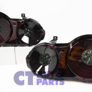 JDM Smoked Red 3D LED Stripe Bar Tail Lights for Nissan Skyline GTR R35 VQ38-0